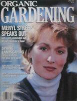 MERLY STREEP April 1989 ORGANIC GARDENING Magazine