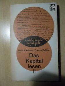 Das Kapital lesen II. von Louis Althusser   Buch   Zustand sehr gut