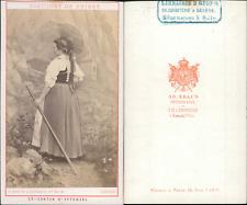 AD.Braun, canton d'Appenzel, costumes suisses Vintage CDV albumen carte de