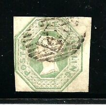 Great Britain Stamps- Scott # 5/A3-1sh-Canc/H-1847-Embossed-Silk Threads