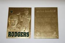 AARON RODGERS Sculptured 2008 Gold Card Limited Edition NM-MT Green Bay Packers
