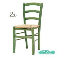 Sedia Paesana in Legno Fondino Paglia The Verde - 2 pezzi SPEDIZIONE GRATIS