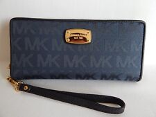 Michael Kors Jet Set Travel Continental Jacquard Wallet in Navy