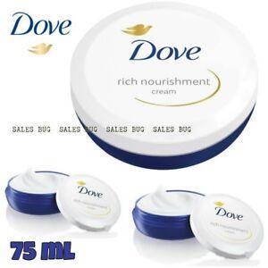 Dove Rich Nourishment Cream, 75ml, FACE, BODY Genuine.