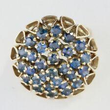 Antique 14K Gold Saphire 1.5 Carat Ring - Size 7 (Sizeable)