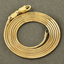 //10K Rose Gold Filled GF Smooth Snake Bone Chain Necklace 60.5cm Long 1mmRound