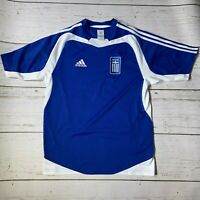 Vintage Greece Adidas Euro 2004 Winning Kit Jersey Mens Small (Flaws)