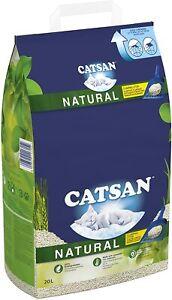 Catsan Natural Biodegradable Clumping Cat Litter 20l