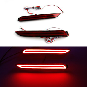 2x LED Rear Bumper Reflector Stop Brake Tail Light Lamp For Toyota Camry Lexus
