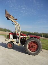 1965 Farmall 504 Tractor 3pt Pto Flat Fenders With Ih 2001 Hydraulic Dump Loader Amp