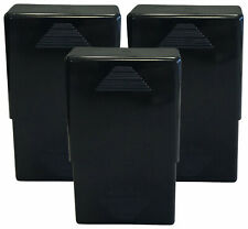 3 Pack Black Crush-Proof Plastic 2 Piece Cigarette Case For King & 100s - 3203