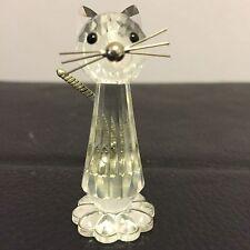 Swarovski Cut Lead Crystal Cat Glass Figurines Retired
