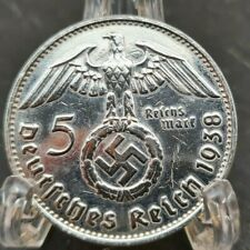 1938 A NAZI GERMANY 5 REICHSMARK - AU/UNC Awesome Silver Coin