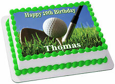 GOLF  REAL EDIBLE ICING CAKE TOPPER PARTY IMAGE FROSTING SHEET