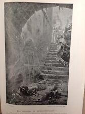 La locura de Nabucodonosor, antigüedad 1898 impresión, religión, artes