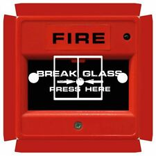 Fire Break Glass Switch Sticker for Crabtree 4172 Double with Holes