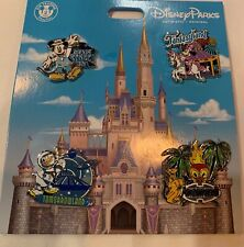 Disney Parks Mickey Mouse and Friends Four Lands Pin Set Fantasyland 2020 Minnie
