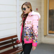 """BRAND NEW""  Women's fashion thin hooded fur collar Down Coat"
