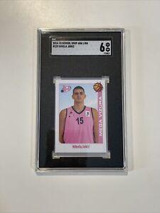 2014 School Shop ABA Liga #129 Nikola Jokic Rookie Euro Sticker SGC 6 RC PRC