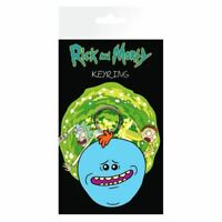 Rick and Morty Mr Meeseeks Rubber Keyring Keychain - Adult Swim Flexible