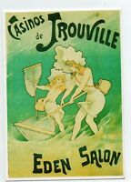 Carte postale : CASINO DE TROUVILLE. EDEN SALON. Mémoire d'un mur. Clouet.