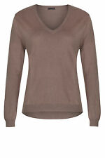 Long Sleeve Wool V Neck None Jumpers & Cardigans for Women