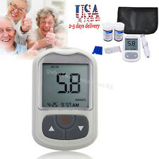 Blood Glucose Meter Starter Kit Sugar Monitor Tester Diabetic 50 Strips US STOCK