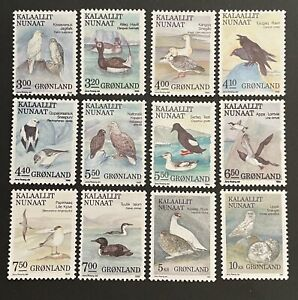 Greenland 1987. Birds. Set Of 12 Stamps. (MNH)