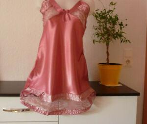 SeXy GLänzende Damen Unterkleid Negligee Gr M