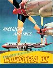 Electra II Flagship 1950 The American Flagship Vintage Poster Print Airline Art