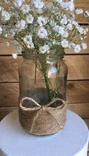 10 x Glass Jars Vintage Vases Wedding Country Table Centrepiece Hessian Twine