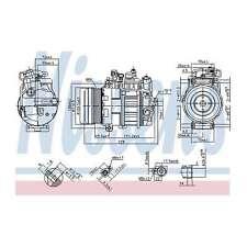 Fits Mercedes-Benz Sprinter 3.5-t 314 CDi Genuine Nissens A/C Air Con Compressor