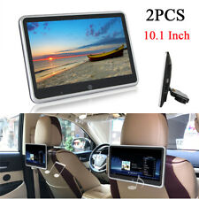 2Pcs 10.1Inch HD Car Headrest Monitors Video Player Mirror Link Touch Screen AUX