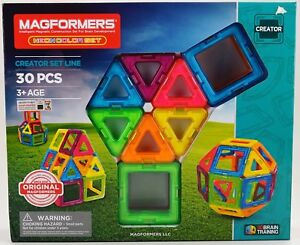 New Magformers Intelligent Magnetic Construction Set 30 Piece Creator Set Line