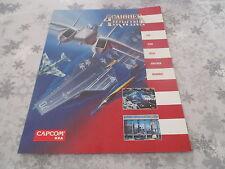 > CARRIER AIRWING CAPCOM OFFICIAL ARCADE ORIGINAL USA HANDBILL FLYER CHIRASHI! <