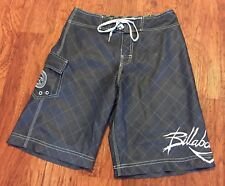 Vintage Billabong Charcoal Gray Signature ANDY IRONS Surf Board Shorts Trunks 30