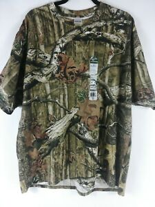 Mossy Oak Mens Break Up Infinity Graphic Green Brown Camo T-Shirt. Size 2XL. NWT