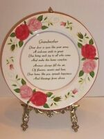 """Grandmother"" 12"" D. Decorative & Functional Porcelain Sentimental Plate,New !"