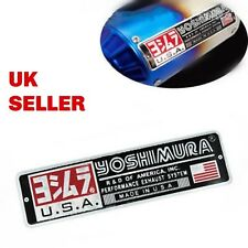 YOSHIMURA Metal Exhaust Can Sticker Heat Proof Yamaha Kawasaki Ducati Ninja R1