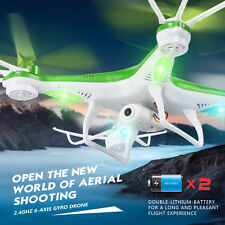 2.4GHz 4CH 6-Axis Drone HD Camera RC Quadcopter Remote Control Helicopter JJRC