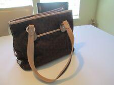 Stunning Ann Klein Brown Brocade Larger Bag Purse Organizer Free Shipping