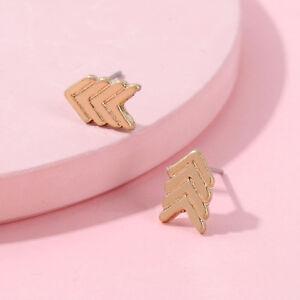 Mini Chevron Arrowhead Stud Earrings Gold Silver Plated Arrow Stud Women Jewelry