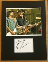 Phil Campbell  (Motorhead)  **HAND SIGNED**  16x12 mounted display ~ AUTOGRAPHED