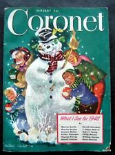 Coronet Magazine January 1948 Olympic Games Kids Photos Calendar