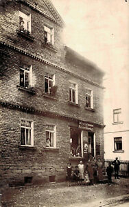 79709- Foto Karte Laden Robert Hering Neukurtschau bei Greiz Thüringen 1914