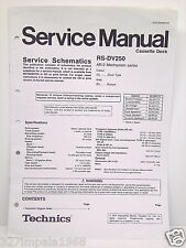 Technics Original Service Manual Schematics RS-DV250 Cassette Deck
