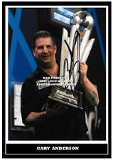 041. GARY ANDERSON  DARTS  SIGNED REPRODUCTION PRINT SIZE A4