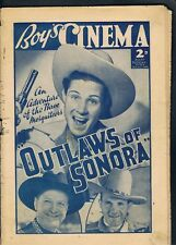 BOY'S OWN CINEMA DECEMBER 31ST 1938 OUTLAWS OF SONORA