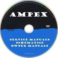 Ampex Service Manuals & Schematics- PDFs on DVD - Huge Collection