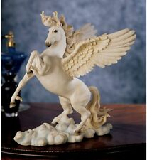 "11.5"" Greek Mythology Poetic Pegasus Flying Horse Equestrian Statue Sculpture"